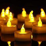 Bougies LED,Bougies Sans Flamme,Lot de 50 bougies LED Bougies CR2032 piles Bougies Unscented Bougie chauffe-plat sans flamme claire vacillante 100 + heures de lumière électrique