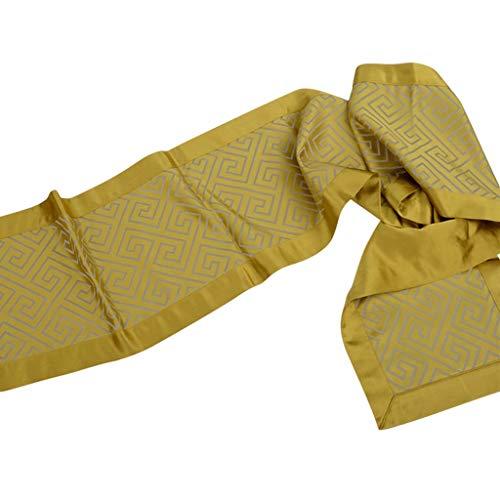 Tafelloper Luxe Satin Geel geometrisch patroon tafeldecoraties for bruiloften en partijen Tafelkleed-4.9 (Size : 30 * 220cm)