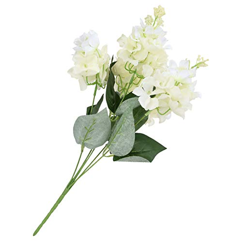 01 Plastic Hydrangea Flower, Hydrangea Bouquet Durable Artificial Hydrangea, 5 Heads Officenever Wilt for Conference Table Dining Room Table