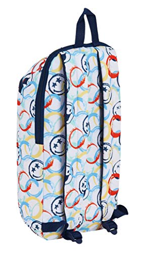 41KADPnOIfL - Mini Mochila Safta de Uso Diario de Smiley World Art, 220x100x390mm