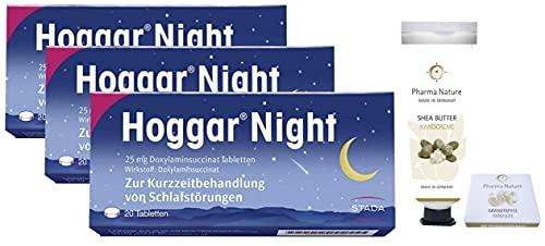 Hoggar night Tabletten 3 x 20 Stück Sparset inkl. einer pflegenden Handcreme ODER Handseife von Pharma Nature