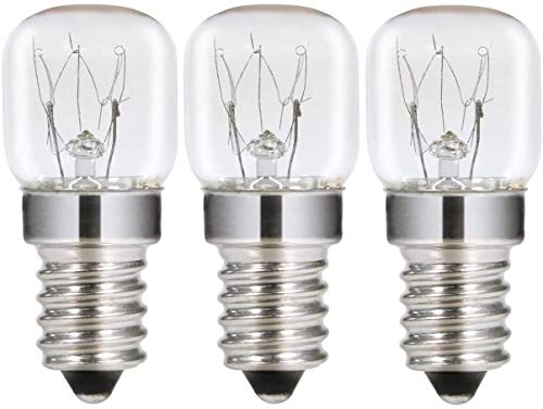 AcornSolution 15W T22 E14 230-240V SES Dimmbare klare GLS-Glühbirne für Kühl- und Gefriergeräte (3er-Pack)