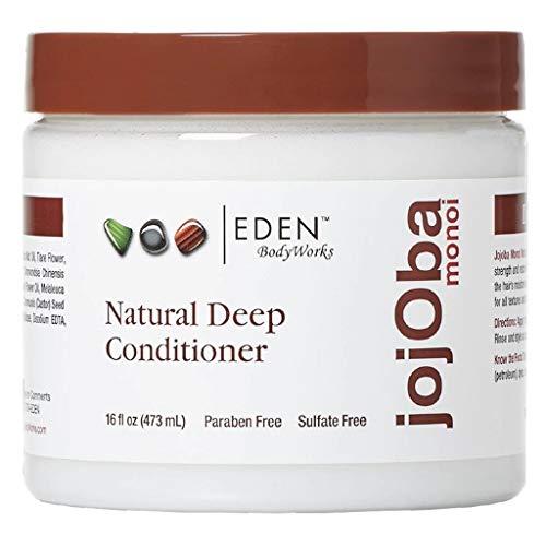 EDEN BodyWorks JoJoba Monoi Deep Conditioner   16 oz   Moisturize, Soften & Repair Hair - Packaging May Vary