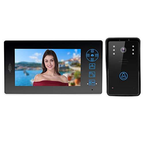 cersalt Videoportero, Video de visión Nocturna a Prueba de Lluvia ABS, práctica Oficina Ajustable para el hogar(European regulations)