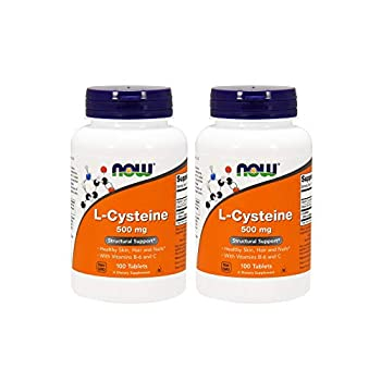NOW Foods L-Cysteine 500 mg 100 Tablets  Pack of 2