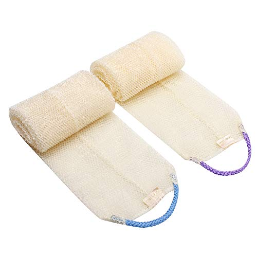 2PCS Exfoliating Back Scrubber for Shower for Men/Women(6.0 x 40 Inch)
