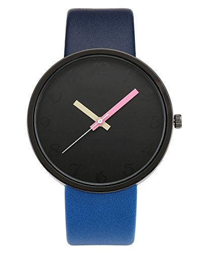 """JSDDE Orologio da polso, Vintage, da donna, con scritto """"?Whatever, I'm Late Anyway?"""" xitazione di Susan Sontag, orologio al quarzo, da polso, nero"""