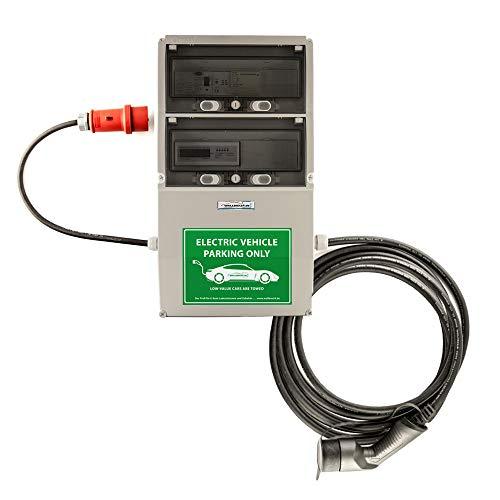 WB24 Wallbox 3 Phasig 400V 11kW 16A Typ 2 7,5m Ladestation mit Stromzähler für Elektro-/Hybridautos