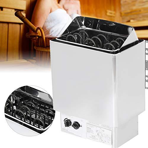 XiangXin Saunaheizung Trockendampfbadofen, 4,5 kW Edelstahl Interne Steuerung Badheizung Sauna Dampfmaschine Herdheizung für Füße Home Hotel Spa Duschbad Sauna 220-380V
