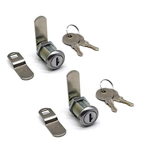 2Pcs Tool Box Locks 1-1/8' Cabinet Cam Lock for Truck Pickup Tool Box Vending Machine Drawer Tool Box Mailbox ATM Locks Replacement