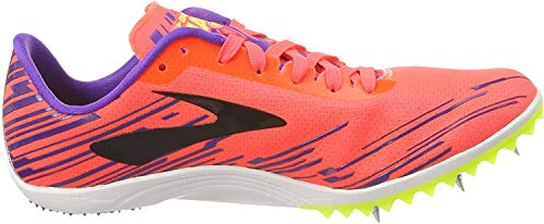 Brooks Mach 18 Women's Cross Country Spikes Fiery Coral/Electric Purple/Black Size 8