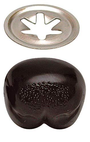 Bärennasen schwarz, 12mm, 4 Stück