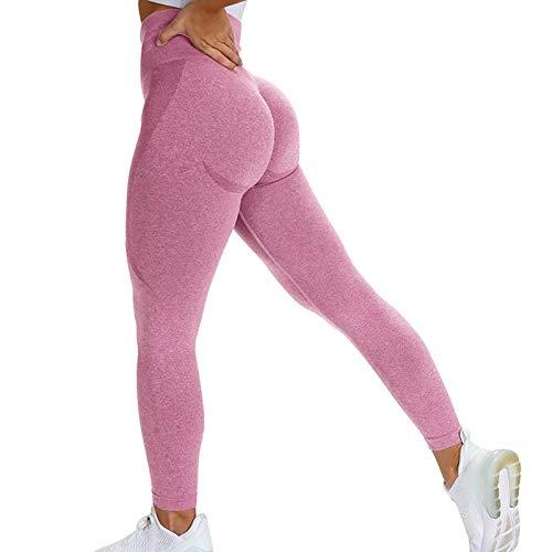 ayingzhenxiao Abbigliamento da Yoga per Donna Abbigliamento da Palestra Cerniera Manica Lunga da Palestra Top + Vita Alta Cuciture Senza Cuciture Leggings Consegna Veloce L Rosa