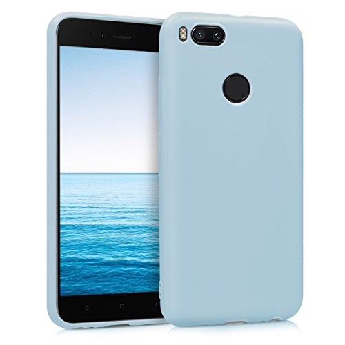 kwmobile Funda Compatible con Xiaomi Mi 5X / Mi A1 - Carcasa de TPU Silicona - Protector Trasero en Azul Claro Mate
