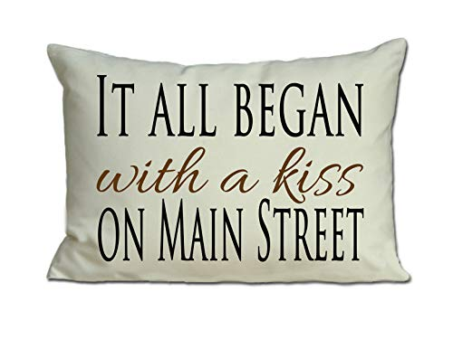 Personalized Pillow for 2nd Cotton Anniversary with your Personalized Love Story It all Began romantic gift