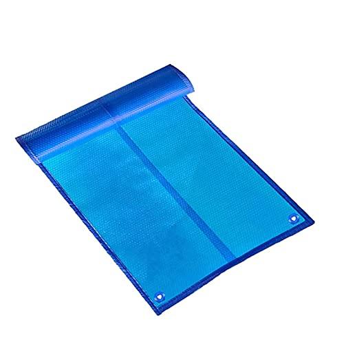 ZXXL Cobertor Solar Piscinas Cubierta para Piscinas con Aislamiento de Burbujas con Ojales, Manta de SPA Solar Flotante para Piscina Rectangular, Cubierta Duradera para Bañera de Hidromasaje