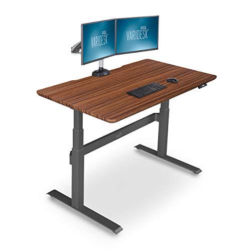 VARIDESK – Full Electric Desk – PRODESK 60 Electric Darkwood- 3-Button Memory Settings
