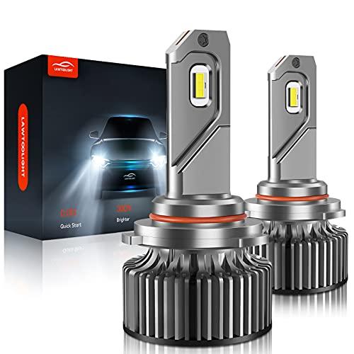 9005/HB3/H10 LED Headlight Bulbs, LAWTOOLIGHT 2-Pack LED Headlight Bulb, High Low Beam Fog Light, 15000LM 80W 300% Brighter LED Headlight Conversion Kit, 6500K Cool White, Halogen Replacement
