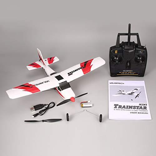 VOLANTEX V761-1 2.4 GHz 3CH Mini Trainstar Control Remoto de 6 Ejes RC Avión ala Fija Avión de Aviones no tripulados RTF para niños Regalo Presente