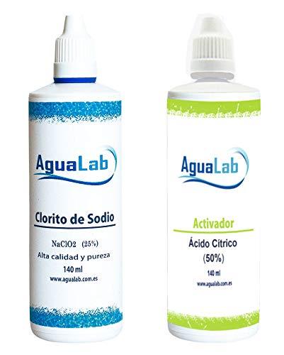 Kit clorito sódico y Ácido cítrico 140 ml