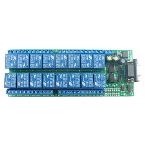 16ch DC 12V Serial Port DB9 UART RS232 Relay Module per PLC PC Com Stampante 3D LED Illuminazione domestica Motore