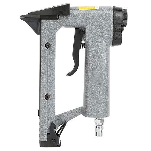 Clavadoras neumáticas adecuadas, de 15 mm, fuerte y resistente, clavadora de revestimiento de bobina de marco fijo, aleación de aluminio para la fijación de marcos de fotos