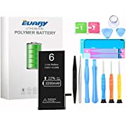 EVARY Battery for IPhone 6, original 2200 mAh high capacity spare battery with tool kit and repair kit, battery replacement manual, 2 years warranty 100%
