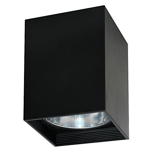 Elegante lámpara de techo en color negro, estilo Bauhaus 1 x E27 hasta 60 W, 230 V, de metal y pasillo, cocina, comedor, lámpara interior