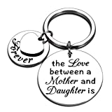 Mothers Day Keychain Gifts to Mom from Daughter Birthday Wedding Present to Mother of The Bride Mama Stepmom Valentine Christmas Graduation Keyring Keepsake for Daughter Her Women