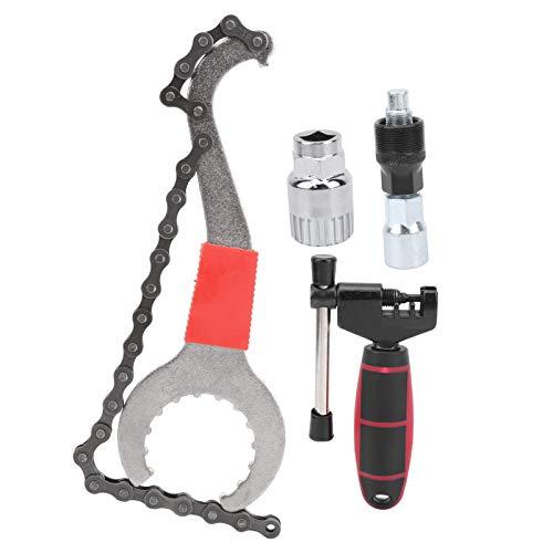 Llave de cadena Juego de herramientas de bicicleta de acero de alta calidad Ahorra energía, para mantenimiento de bicicletas