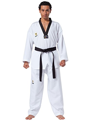 Kwon Taekwondo Anzug Fightlite schwarzes Revers TKD
