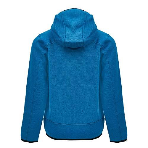 CMP – F.LLI Campagnolo Jungen Knit Tech Polyester-Strickfleecejacke mit Kapuze Fleece Jacket, River-Antracite, 140
