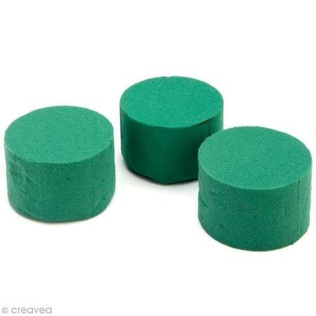 Glorex broches Cylindre pour fleurs fraîches en mousse, 3pièces, 8x 5cm, Vert, 7.5x 7.5x 15cm