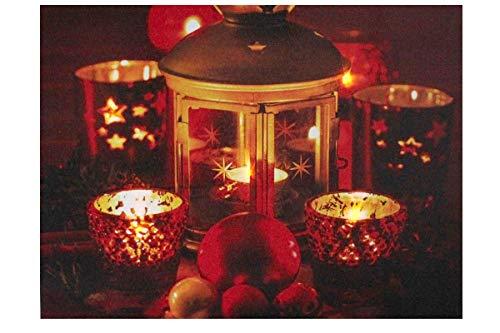 Goldbach LED Weihnachtsbild Laterne & Teelichter