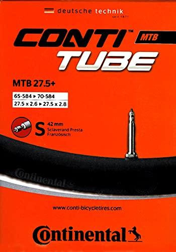 Continental Mountainbike MTB 27.5 Plus S42 Schlauch, Schwarz, One Size
