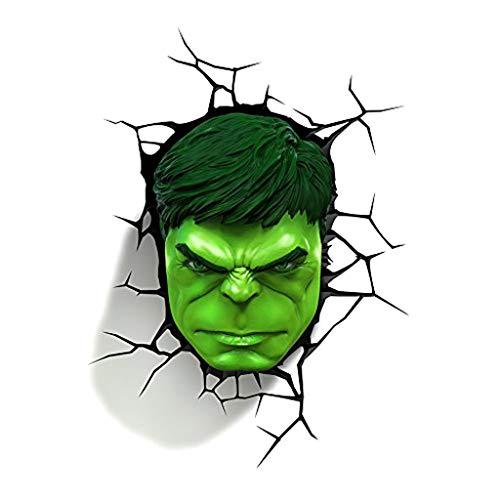 BLWX ZLL wandlamp - Avengers Hulk masker 3D creatieve wandlamp led kleine lamp nachtlampje nachtlampje verlichting