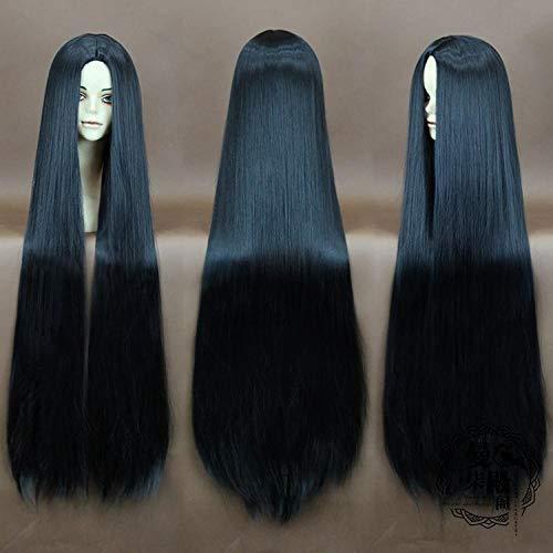 IQMEI Perruque Perruque mi-longue longue extension de cheveux raides Mesdames extension de cheveux perruque Cosplay @ noir