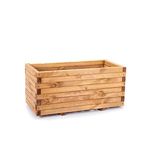 BooGardi Pflanzkasten Pflanzkübel Hochbeet 100cm aus Holz imprägniert, Kiefernholz
