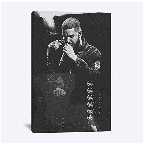 Drake Rapper poster schilderij muur canvas voor tieners woonkamer thuis slaapkamer studeerkamer appartement kunst decoratie prints-50x70cm geen frame