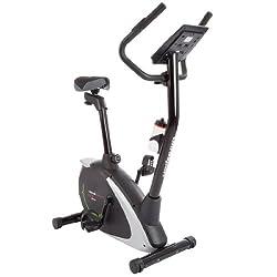 Ultrasport Heimtrainer Racer 800A mit Handpuls-Sensoren und Trinkflasche / Ergometer mit Multifunktionsdisplay sowie 12 Programmen mit 16 Widerstandsstufen – ideal für Fitness- und Ausdauertraining