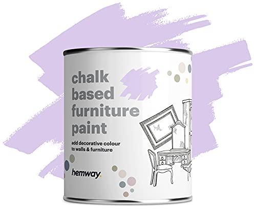 Hemway Matt Shabby Chic Chalk Based Mobili Paint 1L morbida Viola Adatto per interni, Armadi, scaffali, tavoli e sedie, secchezza rapido Chalky finitura liscia touch
