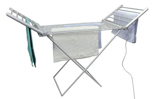 Fine Elements Foldable Heated Airer, White