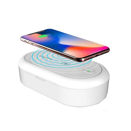 LTLJX Esterilizador UV, Función de Carga Inalámbrica, Esterilizador del Hogar, Ultravioleta, Aromaterapia, Desinfectante Funcional para Relojes iPhone Android