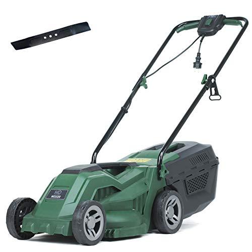 MD Elektro-Rasenmäher, Mulch Funktion, 1300W Mäher, 33 cm Schnittbreite, inkl. 30 L Grasfangkorb und Ersatzmesser, MD220