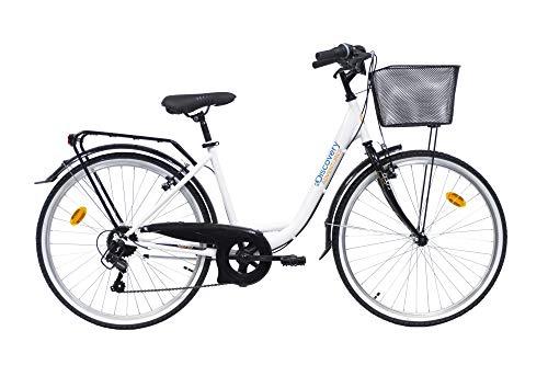 "Discovery 26"", City Bike Donna 26'' -Colore Bianco"