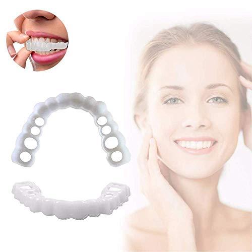 NOSSON Zahnverblendungen Prothesenzähne Kosmetische temporäre Lächelnzähne zum Ersetzen fehlender Zähne - um den weißen Zahn schön sauber zu Machen