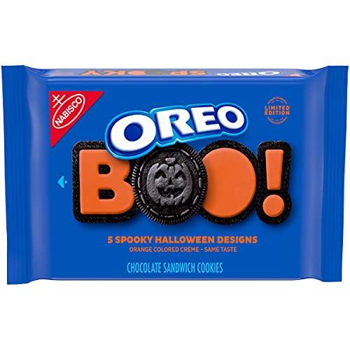 OREO Orange Creme Chocolate Sandwich Halloween Cookies, 5 Halloween Cookie Designs, 1 - 1.25 lb Pack