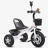 Tricycles- pour Enfants de 2 À 6 Ans, pour Enfants avec Pédale Pliable, Vélo pour Tout-Petits À 3 Roues pour Garçons/Filles (Color : White)