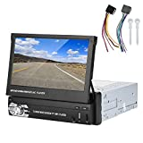 Reproductor de coche, 7 pulgadas Universal Car Audio Player 1 Din HD Sistema de navegación GPS telescópico para coche para coche(Deslizar manualmente)