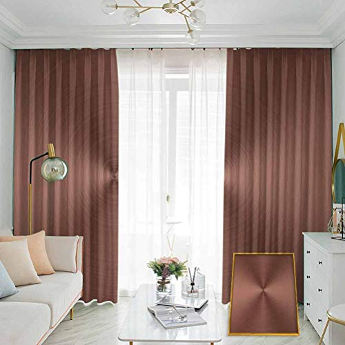 Abstract Studio partition Living Room Curtain Modern Graphic Design of a Round and Radial Shape with Ombre Effect for Living Room or Bedroom W84 x L96 Inch Dried Rose Pale Chocolate